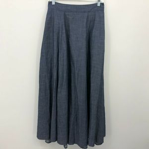 eShakti Chambray Maxi Skirt Size Small? Pockets